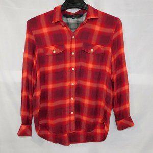 Gap + Pendleton Womens M Plaid Light Flannel Shirt